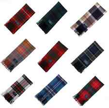 New Long Neck Fashion Tartan Scarf Scottish Wool Clan Scarves - Various Tartans