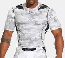 Under Armour Men's White Camo Gameday Armour Padded Compression Shirt NWT #073