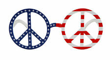 Peace Sign Glasses Psychedelic Glasses Hippie Glasses 1960s 1970s 73201