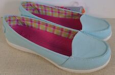 CROCS MELBOURNE ii WOMEN'S SEA FOAM OYSTER CANVAS SHOES NEW WITH TAGS