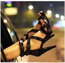 Sexy Peep Toe Ankle Strap Platform Stiletto High Heels Sandals Womens Shoes