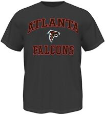 Atlanta Falcons Majestic NFL Heart & Soul III Charcoal Men's T-Shirt