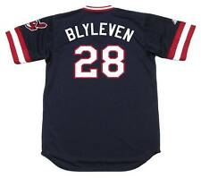 BERT BLYLEVEN Cleveland Indians 1984 Majestic Cooperstown Throwback Away Jersey