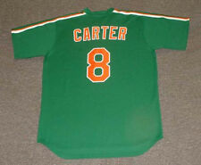 """GARY CARTER New York Mets 1985 Majestic """"St. Patty's Day"""" Throwback Jersey"""