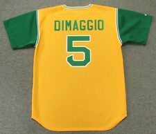 JOE DIMAGGIO Oakland Athletics 1969 Majestic Cooperstown Baseball Jersey