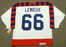 "MARIO LEMIEUX 1992 Wales ""All Star"" CCM Vintage Throwback NHL Hockey Jersey"