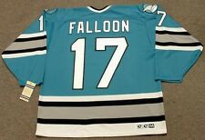 PAT FALLOON San Jose Sharks 1993 CCM Vintage Throwback NHL Hockey Jersey
