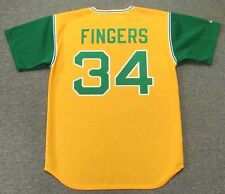 ROLLIE FINGERS Oakland Athletics 1969 Majestic Cooperstown Baseball Jersey