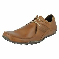 Base London Spring Excel Men's Tan Leather Textile Lace Up Casual Shoes UK 13