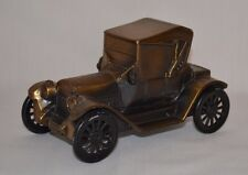Vintage 1974 Banthrico Metal Car Auto Still Coin Bank 1915 Chevy Roadster