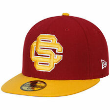 USC Trojans New Era Logo Grand 59FIFTY Fitted Hat - Crimson/Gold - College