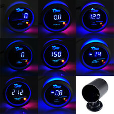 "2"" 52mm Digital Blue LED Light Boost Water Oil Temp Press Volt Tacho Gauge Meter"