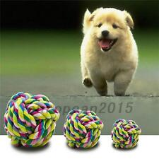 1Pcs Pet Puppy Cotton Braided Bone Rope Chew Knot Toy Ball Random Color Pet Toy