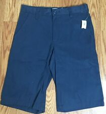 Old Navy Navy Blue Boys Casual Uniform 4 Pocket Cotton Shorts Size 10 & 16 NWT