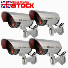4X 2X Power Fake Outdoor Dummy Security Home CCTV Camera w/ LED Light Waterproof