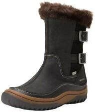 Women's Merrell Decora Chant Waterproof Leather Thermal Winter Snow Boots Black