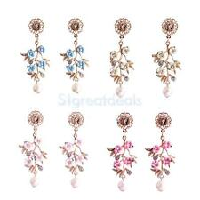 Fashion Charm Women's Crystal Rhinestone Ear Dangle Earrings Charming Jewelry