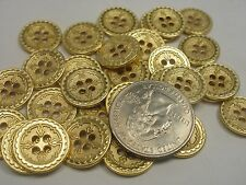 "New lots of Gold Metal Buttons size 5/8"" = 15mm (G11)"