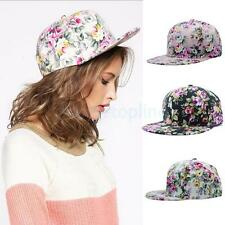 Floral Snapback Adjustable Fitted Mens Womens Hip-Hop Visor Cap Hat Baseball Cap