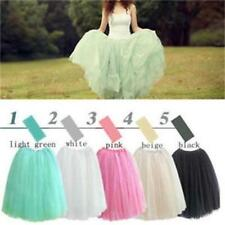 HOT Women Princes Dress 5 Colors Fairy Style 5 layers Tulle Bouffant Skirt -LG