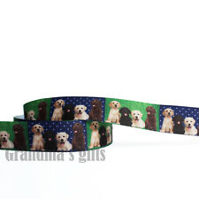 """7/8""""22mm Puppy Printed Grosgrain Ribbon 10/50/100 Yards Hairbow Wholesale"""