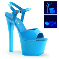 SKY-309UV PLEASER Neon Blue POLE DANCE STRIPPER SHOE