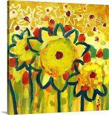 'Amongst the Sunflowers No. 1' by Jennifer Lommers Painting Print on Canvas