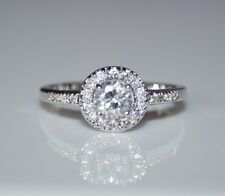 STERLING SILVER 5MM 0.50CT CUBIC ZIRCONIA CZ SOLITAIRE RING (SIZES J - R)