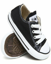 Converse All Star Ox Black White Infant Toddler Boys Girls Shoes Size 4-10