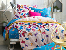Butterfly Doona Duvet Quilt Cover Set Queen/Double/Single Size Bed Animal Cotton
