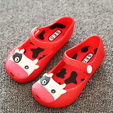 Summer Princess Jelly Cute Cartoon Cow Toddler Girls Rubber Sole Flats Sandals
