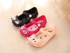 Children Princess Jelly Shoes Cute Bow Toddler Girls Summer Cat Flats Sandals