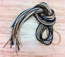"72"" Length x 1/8"" Width Rawhide Leather Shoe Boot Laces Strings Shoelaces Cord"