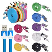 3Ft Flat Noodle Micro USB Charging & Sync Data Cable for Android Phones Samsung
