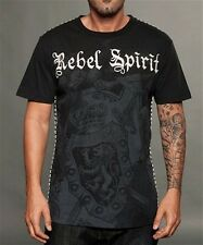 Rebel Spirit Cross Platinum Black  Royalty Men's tee shirt 323 Embroidery