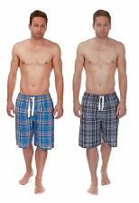 Mens Cargo Bay 100% Cotton Lightweight Summer Lounge Shorts / Pyjama Bottoms