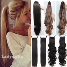 One Piece Tie Up Binding Ponytail Clip in Hair Extension Synthetic as Human Hair