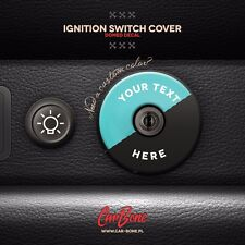IGNITION SWITCH COVER DECAL,  TEXT, 911 (1974 – 1998) porsche sticker epoxy 3d
