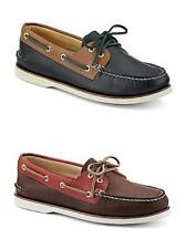 Sperry Gold Cup 2 Eye Boat/Deck Shoe Leather Moccasins/Loafer Brown/Red Navy/Tan