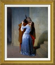 Global Gallery 'The Kiss' by Francesco Hayez Framed Painting Print
