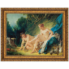 Diana Leaving Her Bath, 1742 by Francois Boucher Framed Painting Print
