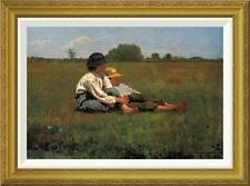 Global Gallery 'Boys In A Pasture' by Winslow Homer Framed Painting Print