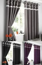 Ready Made Fully Lined Ringtop Eyelet Curtains Colours Sizes Patterns Modern