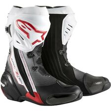 Alpinestars Supertech R Red Black Motorcycle Racing Performance Boots
