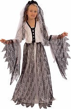 Childrens Halloween Fancy Dress Party Goth Corpse Bride Costume Zombie Outfit UK