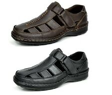 AMOS Men's Casual and Outdoor Adjustable Velcro Strap Summer Fisherman Sandals