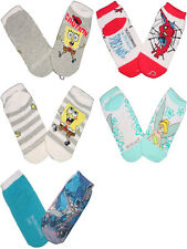 NEW SPONGEBOB SPIDERMAN BATMAN TINKERBELL ANKLE SOCKS BOY GIRL KIDS SZ 4-5, 5-6