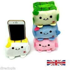 Japanese Tofu Phone Holder Plush Protecter Block Seat Stand Mobile Kawaii