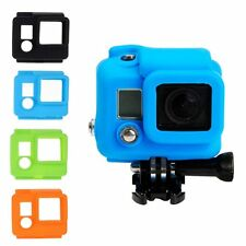Soft Rubber Silicone Gel Protective Case Cover Skin For GoPro HD Hero 3+ 4