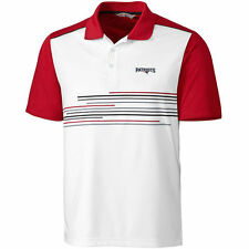 New England Patriots CBUK by Cutter & Buck Stagger Print Polo - White/Red - NFL
